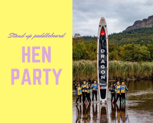 stand up paddleboard hen party